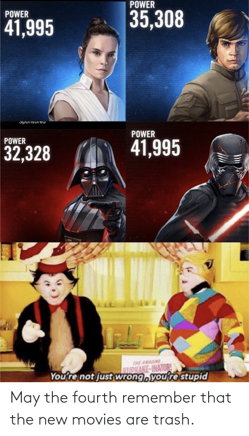 Trash: May the fourth remember that the new movies are trash.
