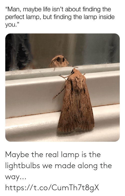 way: Maybe the real lamp is the lightbulbs we made along the way... https://t.co/CumTh7t8gX