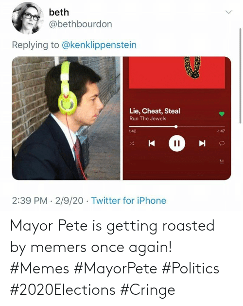 Getting Roasted: Mayor Pete is getting roasted by memers once again! #Memes #MayorPete #Politics #2020Elections #Cringe