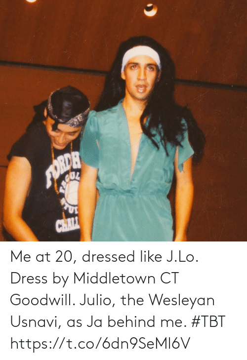Behind: Me at 20, dressed like J.Lo. Dress by Middletown CT Goodwill. Julio, the Wesleyan Usnavi, as Ja behind me. #TBT https://t.co/6dn9SeMl6V