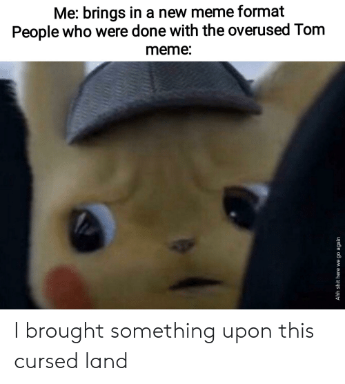 Meme, Dank Memes, and Who: Me: brings in a new meme format  People who were done with the overused Tom  meme: I brought something upon this cursed land