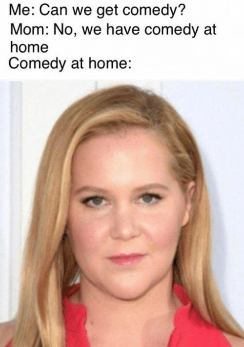 Memes, Home, and Comedy: Me: Can we get comedy?  Mom: No, we have comedy at  home  Comedy at home: