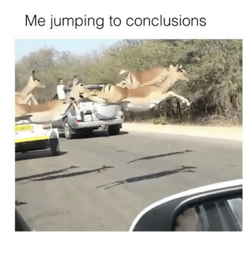 conclusive: Me jumping to conclusions