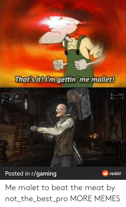 meat: Me malet to beat the meat by not_the_best_pro MORE MEMES