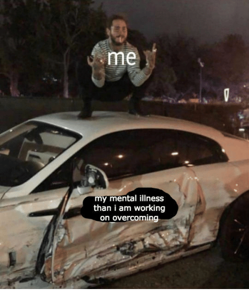 Working, Mental Illness, and I Am: me  my mental illness  than i am working  on overcoming