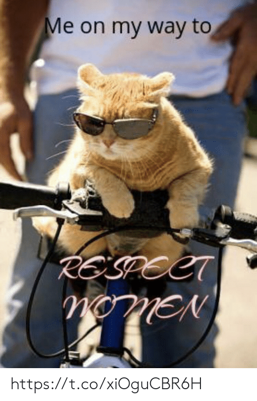 my way: Me on my way to  RESPECT  nonEN https://t.co/xiOguCBR6H