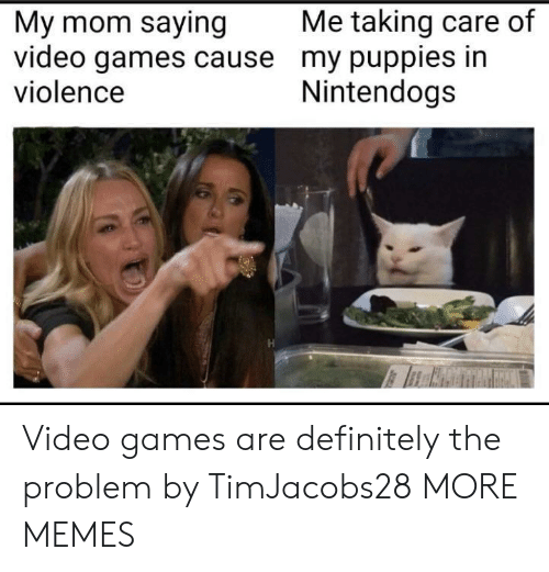 nintendogs: Me taking care of  My mom saying  video games cause my puppies in  violence  Nintendogs Video games are definitely the problem by TimJacobs28 MORE MEMES