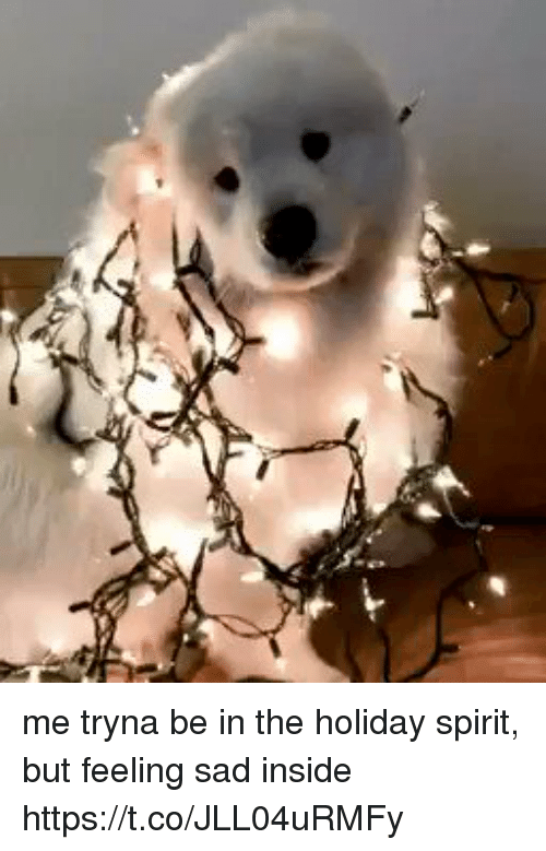 Spirit, Girl Memes, and Sad: me tryna be in the holiday spirit, but feeling sad inside  https://t.co/JLL04uRMFy