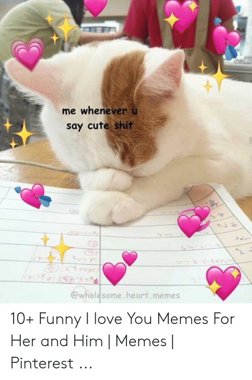 Wholesome Heart: me whenever u  say cute shit  @wholesome.heart.memes 10+ Funny I love You Memes For Her and Him | Memes | Pinterest ...