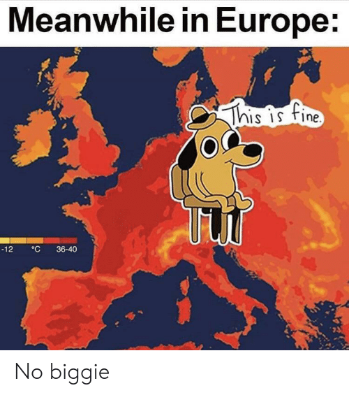 biggie: Meanwhile in Europe:  This is fine  °C  36-40  -12 No biggie