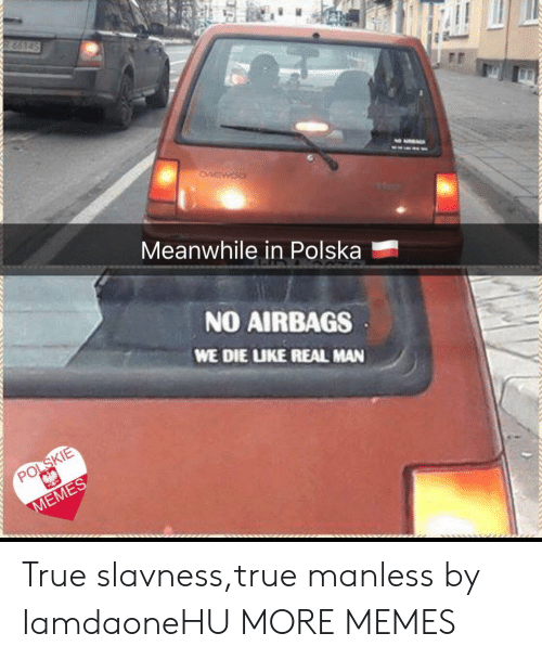Dank, Memes, and Target: Meanwhile in Polska  NO AIRBAGS  WE DIE UKE REAL MAN  POLSKIE True slavness,true manless by IamdaoneHU MORE MEMES