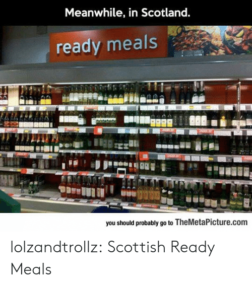 Scotland: Meanwhile, in Scotland.  ready meals  you should probably go to TheMetaPicture.com lolzandtrollz:  Scottish Ready Meals