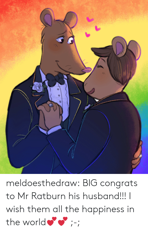 Target, Tumblr, and Blog: meldoesthedraw: BIG congrats to Mr Ratburn  his husband!!! I wish them all the happiness in the world💕💕 ;-;