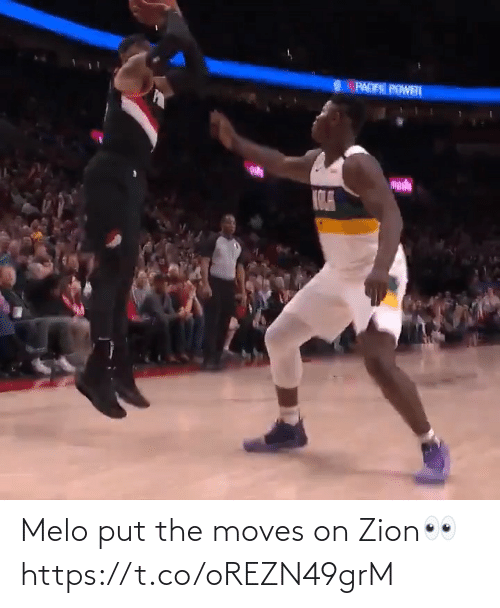 🤖: Melo put the moves on Zion👀 https://t.co/oREZN49grM