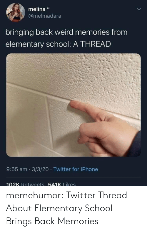 School: memehumor:  Twitter Thread About Elementary School Brings Back Memories