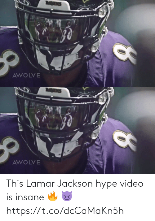 hype: MENS  AWOLVE   MENS  AWOLVE This Lamar Jackson hype video is insane 🔥 😈 https://t.co/dcCaMaKn5h