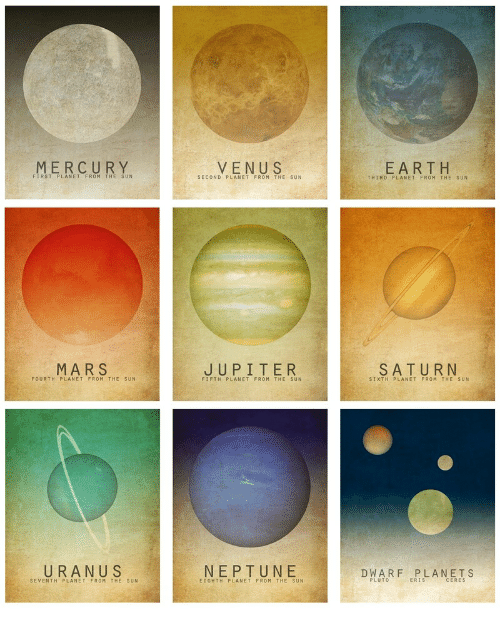 Earth, Mars, and Neptune: MERCUR Y  EARTH  FIRST PLANET FROM THE SUN  SECOND PLANET FROM THE SUN  THIRD PLANET FROM THE SUN  MARS  SATURN  FOURTH PLANET FROM THE SUN  FIFTH PLANET FROM THE SUN  SIXTH PLANET FROM THE SUN  N U S  NEPTUNE  DWARF PLANETS  SEVENTH PLANET FROM THE SUN  EIGHTH PLANET FROM THE SUN  PLUTO  ERIS  CERES