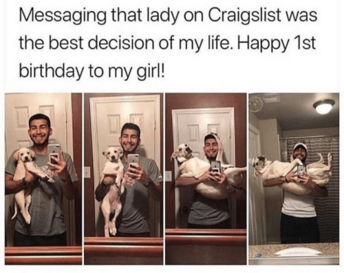 Birthday, Craigslist, and Life: Messaging that lady on Craigslist was  the best decision of my life. Happy 1st  birthday to my girl!