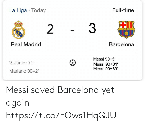 again: Messi saved Barcelona yet again https://t.co/EOws1HqQJU