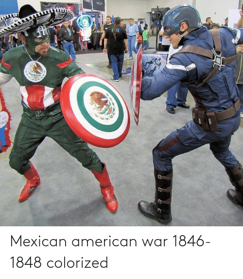 Mexican: Mexican american war 1846-1848 colorized