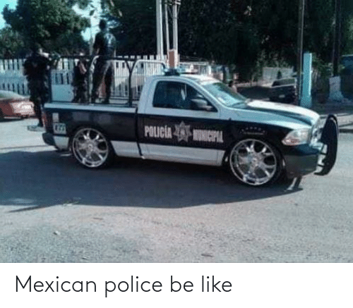 Mexican: Mexican police be like