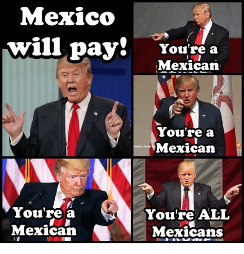 Mexico, Mexican, and All: Mexico  willpayt  You're a  Mexican  You're a  Mexican  You're a  Mexican Mexicans  You're ALL  2