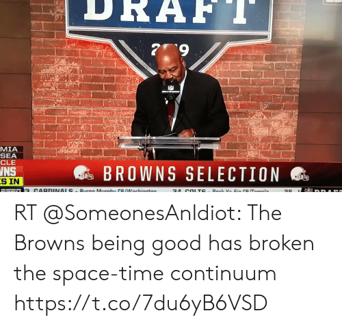 esmemes.com: MIA  SEA  CLE  @s BROWNS SELECTION  INS  S IN RT @SomeonesAnIdiot: The Browns being good has broken the space-time continuum https://t.co/7du6yB6VSD