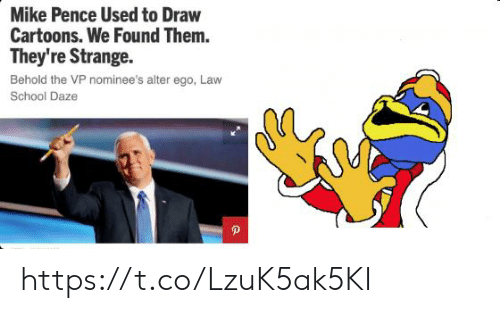 Cartoons: Mike Pence Used to Draw  Cartoons. We Found Them.  They're Strange  Behold the VP nominee's alter ego, Law  School Daze https://t.co/LzuK5ak5KI