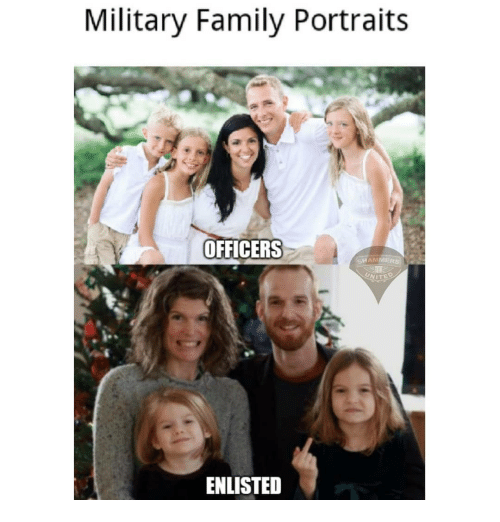 Family, Memes, and United: Military Family Portraits  OFFICERS  HAMMERS  UNITED  ENLISTED