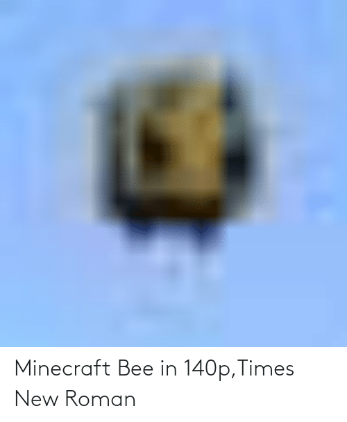 Roman: Minecraft Bee in 140p,Times New Roman