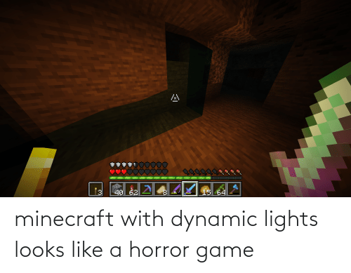 horror: minecraft with dynamic lights looks like a horror game