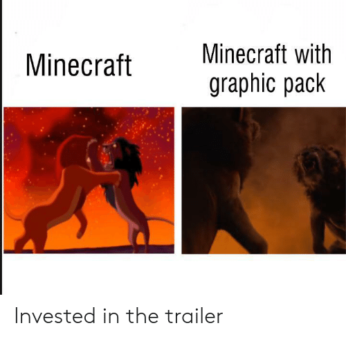 Minecraft,  Pack, and Trailer: Minecraft with  Minecraft  graphic pack Invested in the trailer