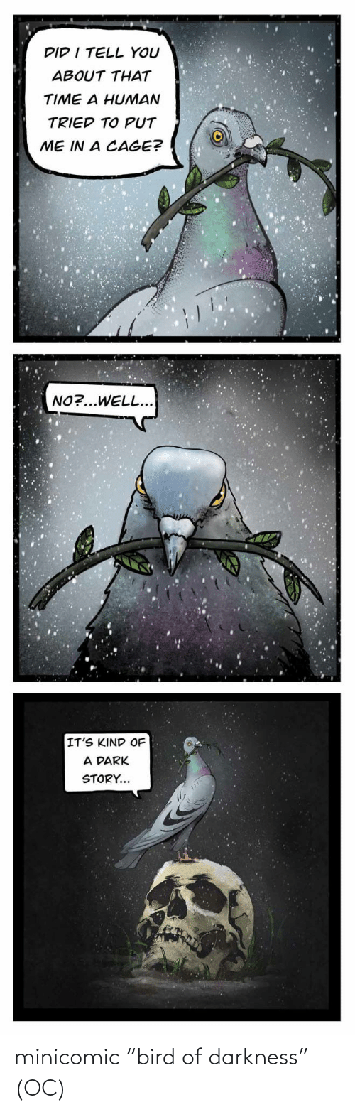 "bird: minicomic ""bird of darkness"" (OC)"