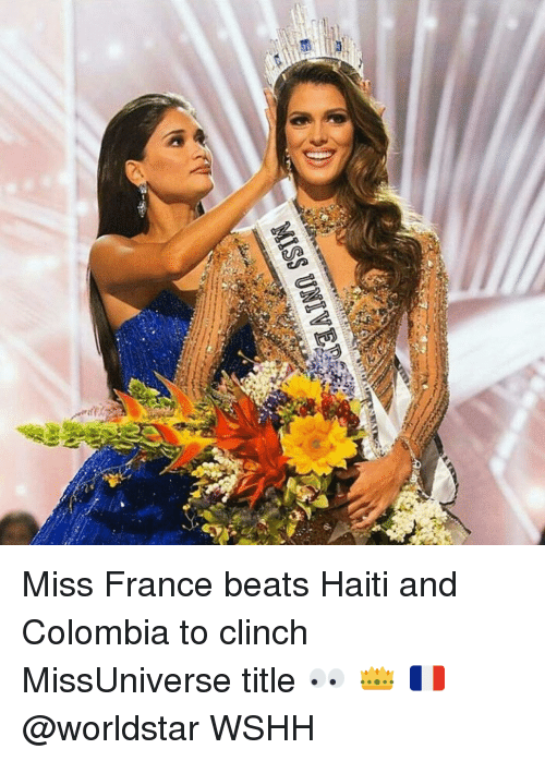 Missuniverse: MISS UNIVER Miss France beats Haiti and Colombia to clinch MissUniverse title 👀 👑 🇫🇷@worldstar WSHH