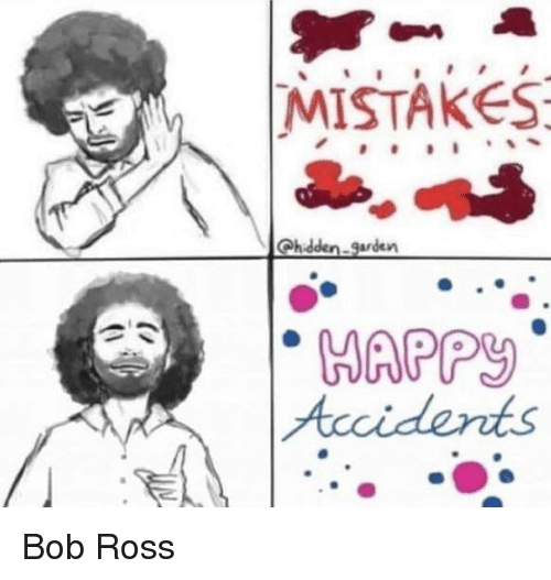 Bob Ross, Mistakes, and Ross: MISTAKES  WAPPY Bob Ross