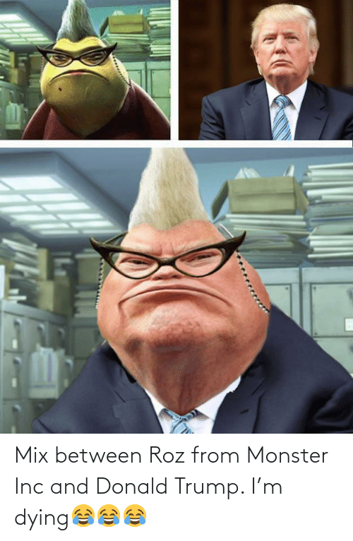 Roz: Mix between Roz from Monster Inc and Donald Trump. I'm dying😂😂😂