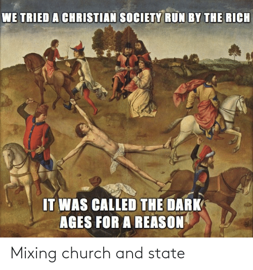 Church: Mixing church and state