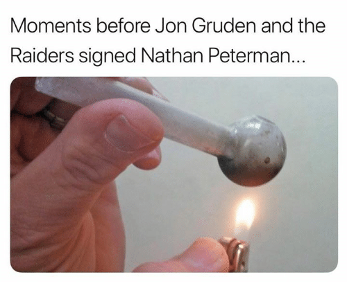 Nfl, Raiders, and Jon Gruden: Moments before Jon Gruden and the  Raiders signed Nathan Peterman...