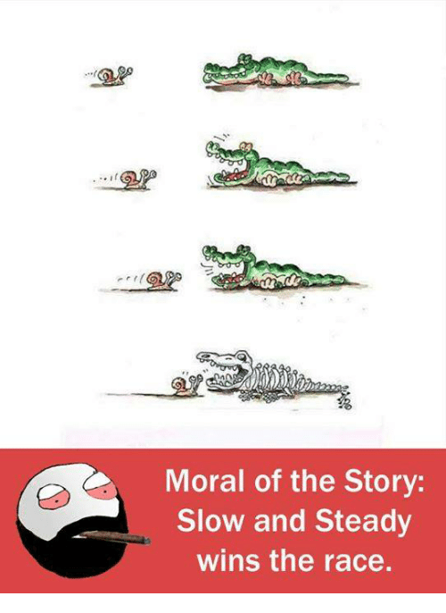 steady-wins-the-race: Moral of the Story  Slow and Steady  wins the race.