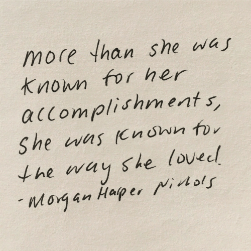 Her, She, and For: more han she was  Knon for her  alcomplishments  he way she lovecl  l ol  Morg an Haper
