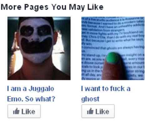 Juggalo: More Pages You May Like  l am a Juggalo  Emo. So what?  Like  I want to fucka  ghost  Like