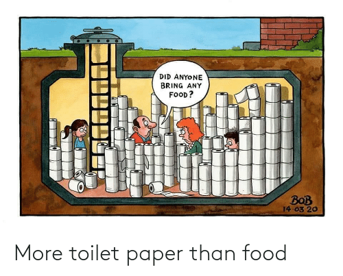 paper: More toilet paper than food