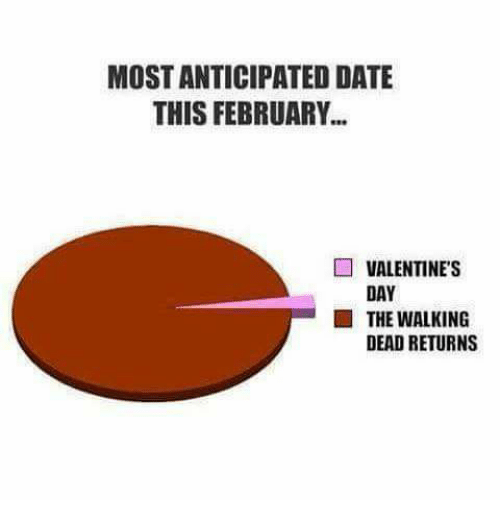 Walking Dead Returns: MOST ANTICIPATED DATE  THIS FEBRUARY  VALENTINE'S  DAY  THE WALKING  DEAD RETURNS