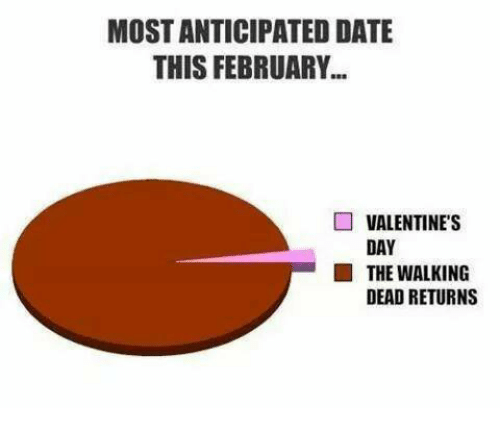 Walking Dead Returns: MOSTANTICIPATED DATE  THIS FEBRUARY  VALENTINE'S  DAY  THE WALKING  DEAD RETURNS