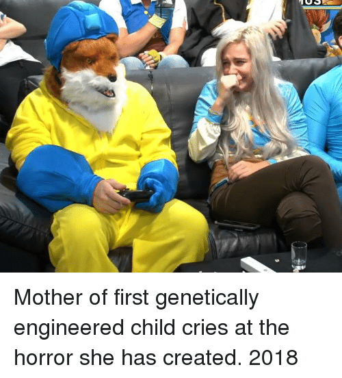 the horror: Mother of first genetically engineered child cries at the horror she has created. 2018
