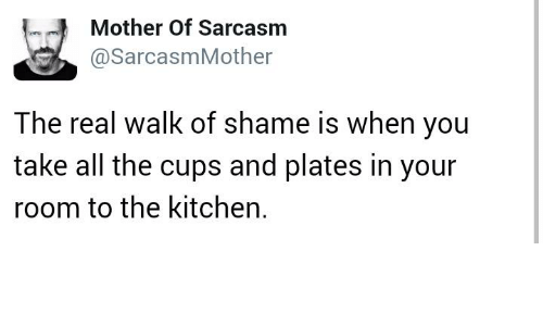 Mother Of Sarcasm Mother The Real Walk Of Shame Is When You Take All