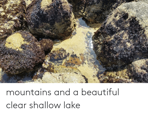 shallow: mountains and a beautiful clear shallow lake