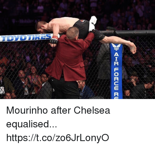 Chelsea, Soccer, and Mourinho: Mourinho after Chelsea equalised... https://t.co/zo6JrLonyO