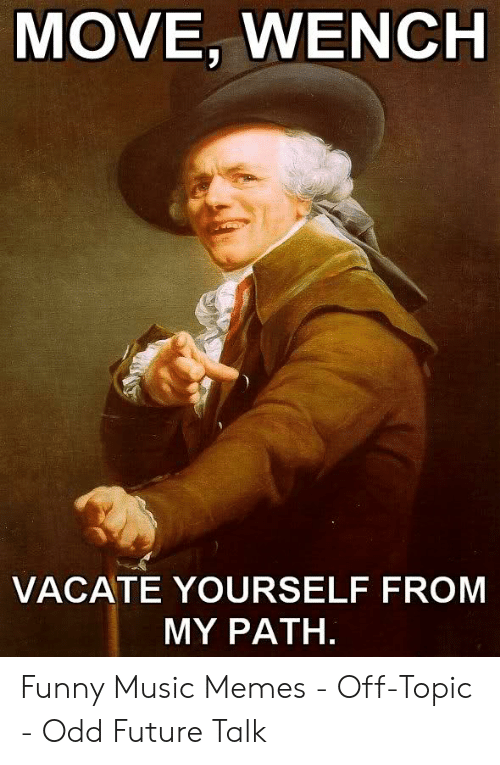 MOVE WENCH VACATE YOURSELF FROM MY PATH Funny Music Memes