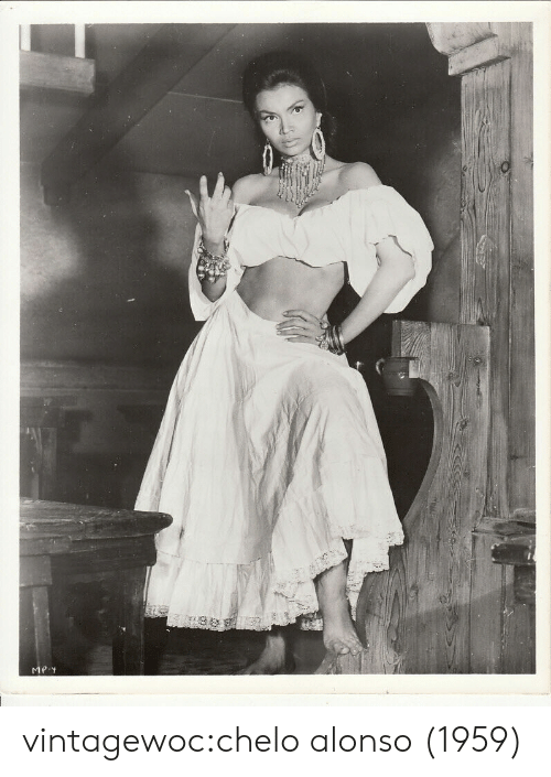 Tumblr, Blog, and Com: MP.Y vintagewoc:chelo alonso (1959)